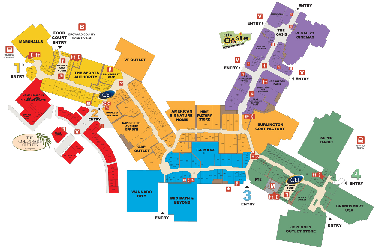 Miami Sawgrass Mills Map