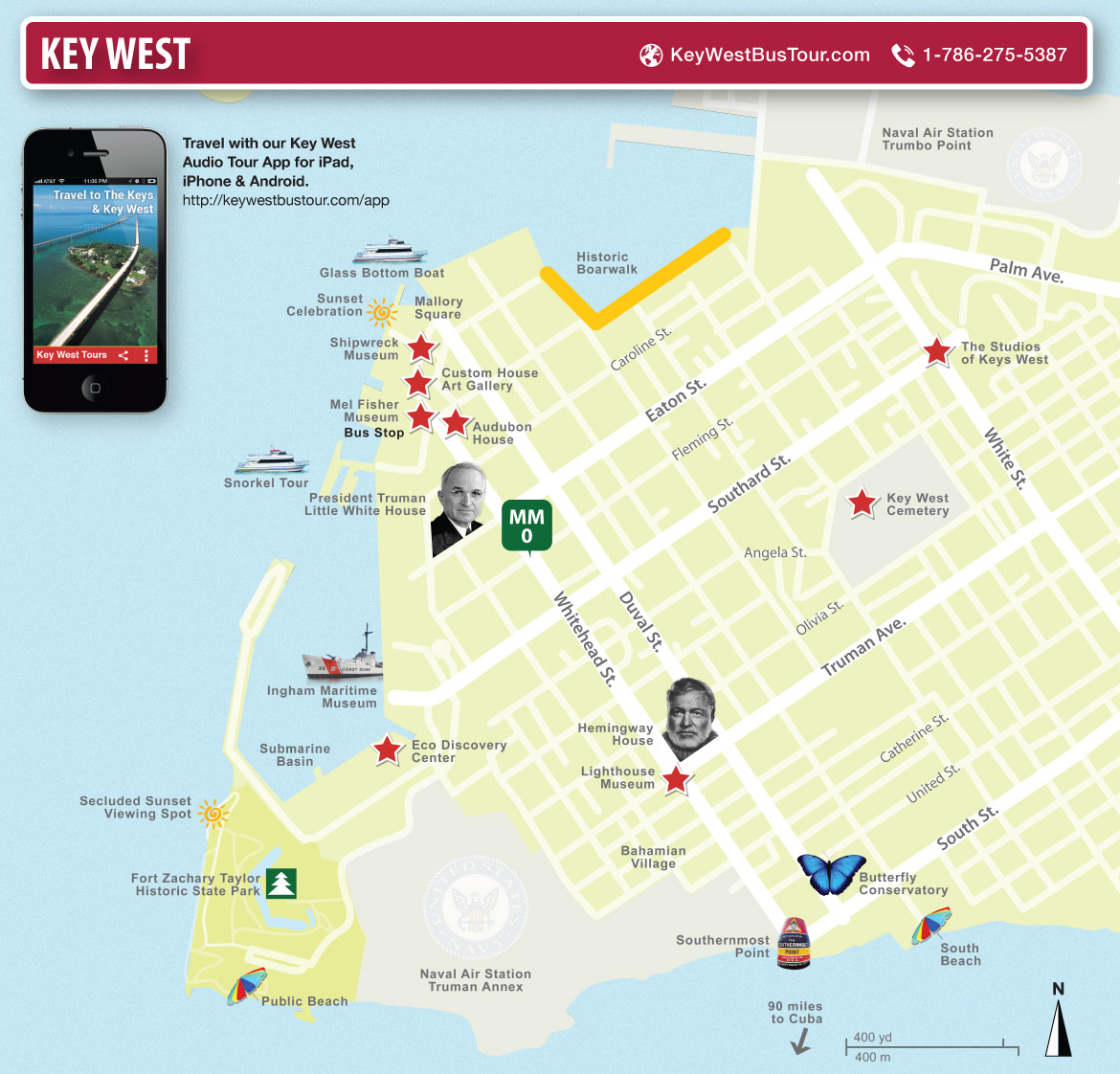 key west miami florida map